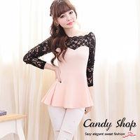 Candy小舖 蕾絲袖子可愛甜美洋裝 現購 ^#43