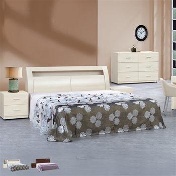 【時尚屋】[UZ6]泰豐6尺加大雙人床UZ6-32-3+32-4不含床頭櫃-床墊