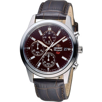 ORIENT 東方錶 SP 系列 三眼功能運動計時腕錶 FKU00005T 咖啡