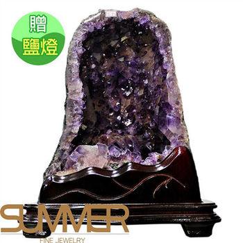 【SUMMER寶石】《10.8kg》巴西3A天然紫晶洞 《加贈鹽燈》(1116-14)