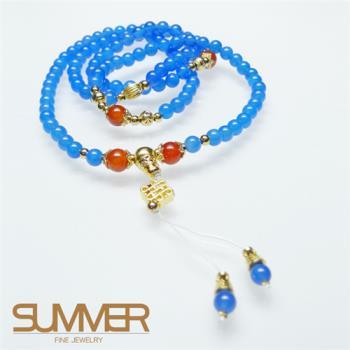 【SUMMER寶石】開運藍玉髓項鍊(獨家設計-限量特賣)