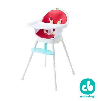 美國Creative Baby 創寶貝- 三合一成長型餐椅 紅色 (Sprout 3 in 1 Hi-Lo Chair)