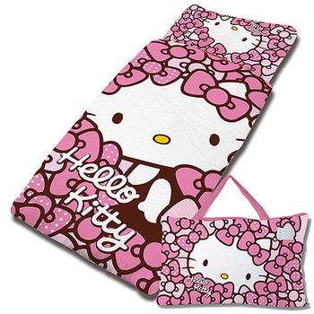 【享夢城堡】HELLO KITTY 我的Ribbon時尚系列-鋪棉兩用兒童睡袋 (粉)