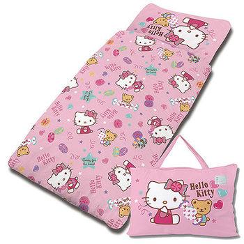 【享夢城堡】HELLO KITTY 我的甜蜜夥伴抗菌系列-鋪棉兩用兒童睡袋(粉)