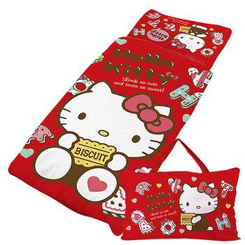 【享夢城堡】HELLO KITTY 繽紛甜心抗菌系列-鋪棉兩用兒童睡袋(紅)