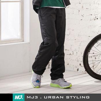 【MJ3】低調型男透氣運動風衣長褲-男(神秘黑)