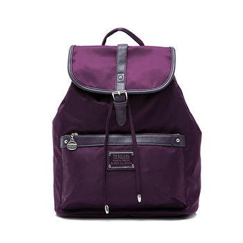 [ANGIMI SHOP] 完美時尚尼龍束口防水後背包(紫)
