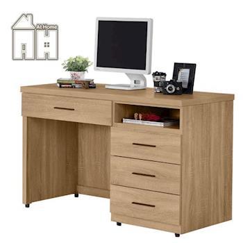 【AT HOME】高爾4尺橡木紋書桌