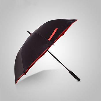 PUSH好聚好傘99%抗紫外線降溫抗風多層雨傘戶外傘遮陽傘晴雨傘I31黑紅配黃色口袋款