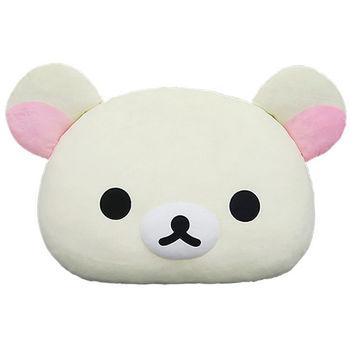 【享夢城堡】Rilakkuma拉拉熊 頭型抱枕 18吋 (拉拉熊)(牛奶熊)
