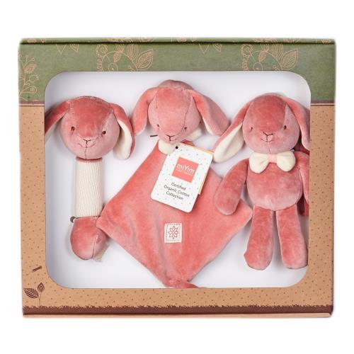 美國miYim有機棉安撫玩具禮盒組 邦妮兔兔