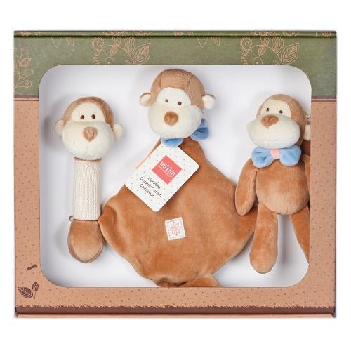 美國miYim有機棉安撫玩具禮盒組 布布小猴