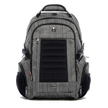 【Swissdigital】時尚典型絲紋後背包(灰色)