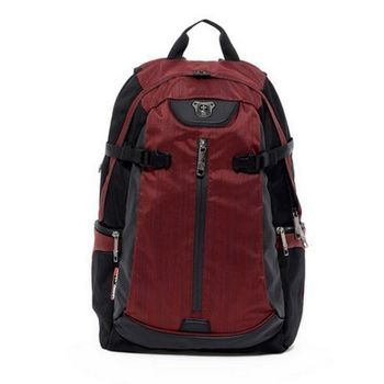 【Swissdigital】型動流線設計後背包(紅色)