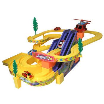 【17mall 】3D電動音樂公路賽車軌道車組