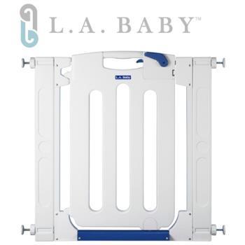 【美國 L.A. Baby】幼兒安全自動上鎖門欄/圍欄/柵欄(贈兩片延伸件)
