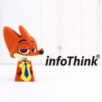 InfoThink ZOOTOPIA 狐狸搖頭造型隨身碟 16GB