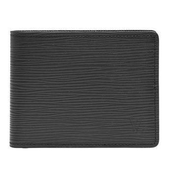 LV M60332 EPI水波紋SLENDER對折短夾(黑)