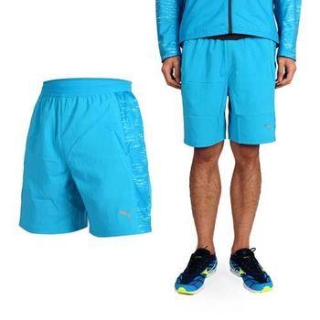 【PUMA】NIGHTCAT 男7吋運動短褲-慢跑 路跑 籃球短褲 水藍銀  雙側口袋