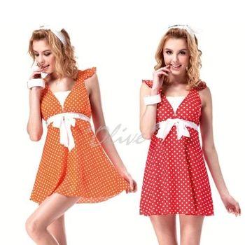 (現貨+預購)【沙兒斯】時尚點點洋裝款二件式連身裙泳裝NO.B92357