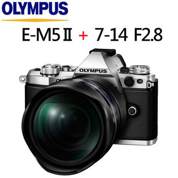 [送32G電池]OLYMPUS OM-D E-M5 Mark II  單機身(公司貨)+  7-14mm F2.8 PRO (平輸)