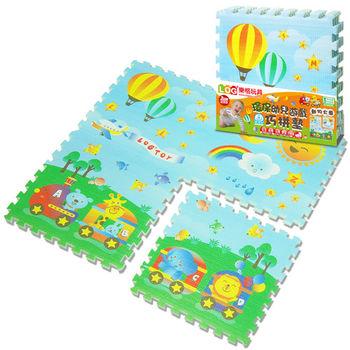LOG樂格 環保遊戲巧拼墊 -動物火車 (60x60cmx4片)