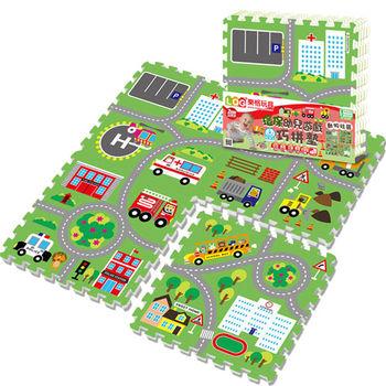LOG樂格 環保遊戲巧拼墊-動物社區 (60x60cmx4片)