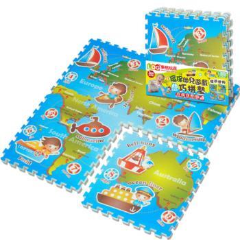 LOG樂格 環保遊戲巧拼墊 -環遊世界 (60x60cmx4片)