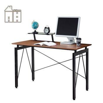 【AT HOME】歐雪4尺胡桃電腦桌(含上架)