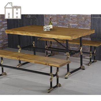 【AT HOME】蓋爾5尺長方水管餐桌