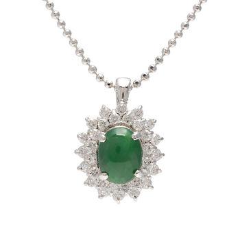 JL7*9玉石晶鑽項鍊