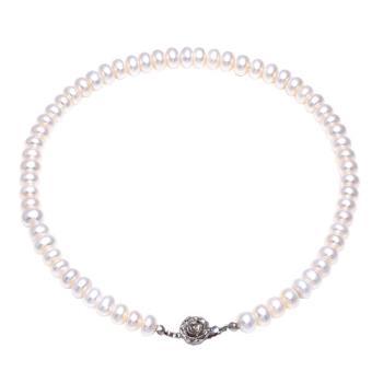 JL玫瑰綴飾珍珠項鍊
