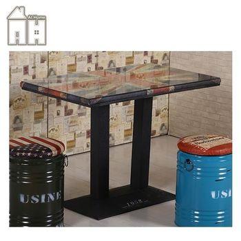 【AT HOME】英國4尺長方仿舊餐桌