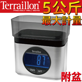 Terraillon法國直立式指針料理秤+盆-(Ba22 mythique )