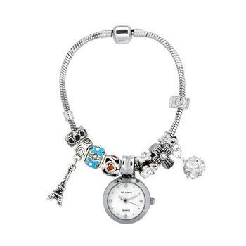 克萊米亞維納斯鍊曲腕錶(買一送一)