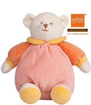 美國 miYim 有機棉安撫香氛娃娃 睡眠時間熊(粉)