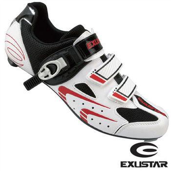 【EXUSTAR】公路車鞋 (白紅)