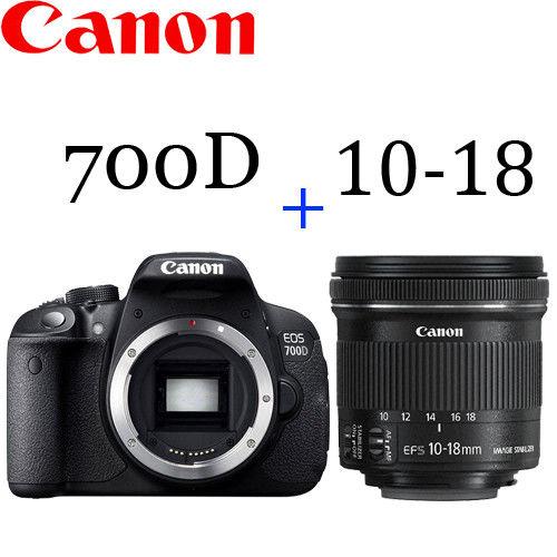 Canon EOS 700D 單機身BODY (公司貨) +EF-S 10-18mm f/4.5-5.6 IS STM (平輸)