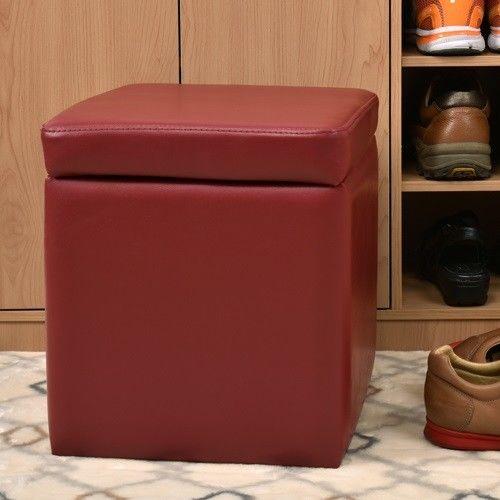 【咱的厝】吉尼爾收納椅/儲藏椅/玄關椅/掀蓋椅(深紅色)