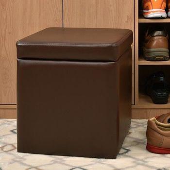 【咱的厝】吉尼爾收納椅/儲藏椅/玄關椅/掀蓋椅(咖啡色)
