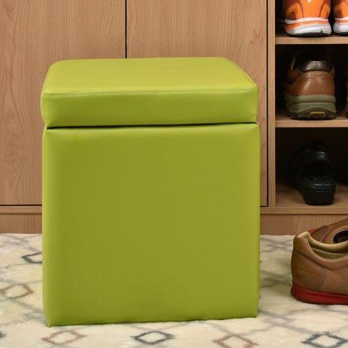 【咱的厝】吉尼爾收納椅/儲藏椅/玄關椅/掀蓋椅(綠色)