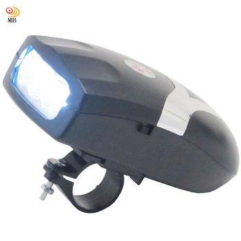 月陽MB自行車電子喇叭帶3LED前燈(HY0902)