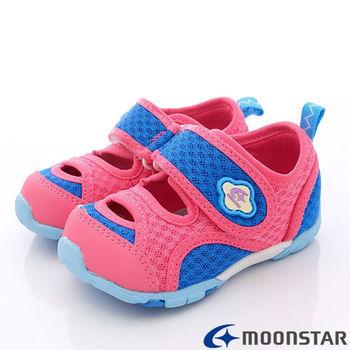 日本Carrot機能童鞋-新夏網布透氣機能款-CB782桃紅-(12.5cm~14.5cm)