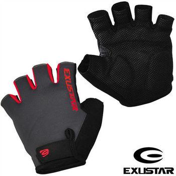 EXUSTAR 自行車半指手套(紅)