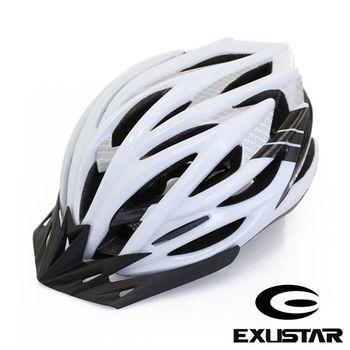 EXUSTAR 27孔自行車專用安全帽 (白)