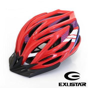 EXUSTAR 27孔自行車專用安全帽 (紅)