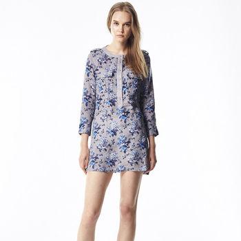ST. MALO  100%天然頂級亞麻英式花版洋裝式襯衫
