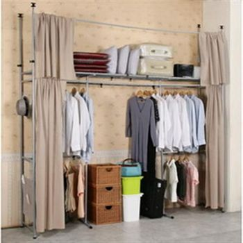 《CB》衣世家加寬型日式頂天立地伸縮衣櫥