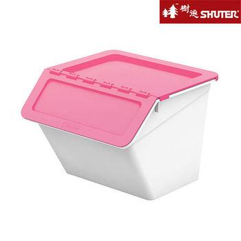 【樹德SHUTER】小蜜蜂可疊式收納箱15L (6入組) -粉紅