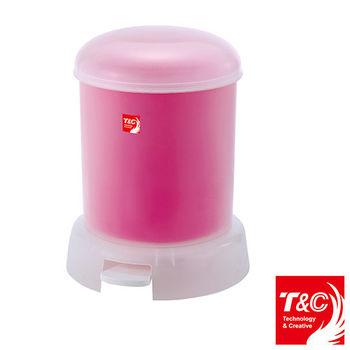 TC 果凍腳踏式垃圾桶9L(粉)